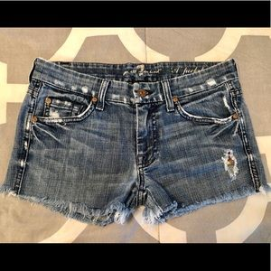 7 For All Mankind Distressed Shorts, Size 27